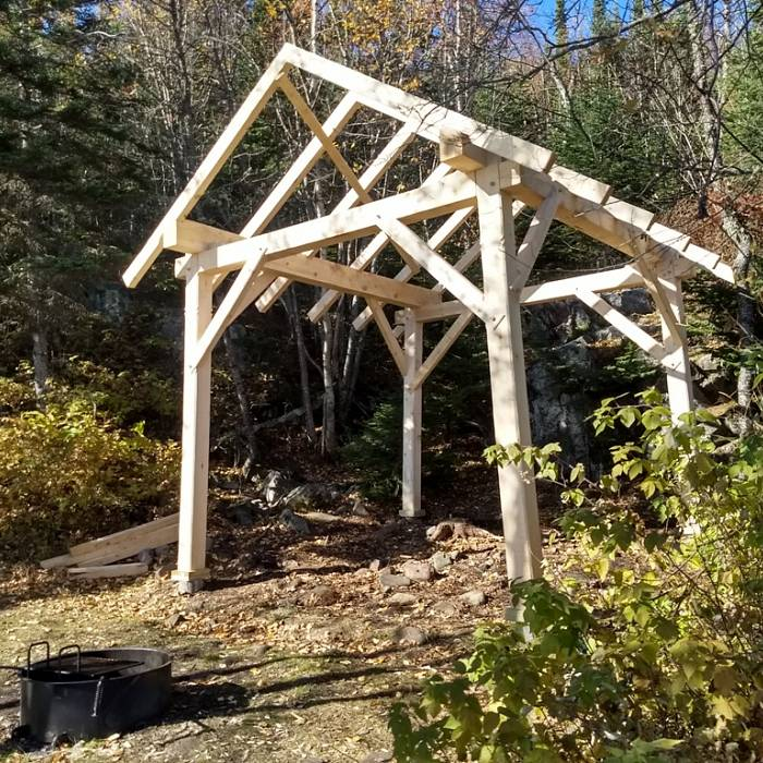 Image for New Timber Frames in the Grand Marais Rec Park!