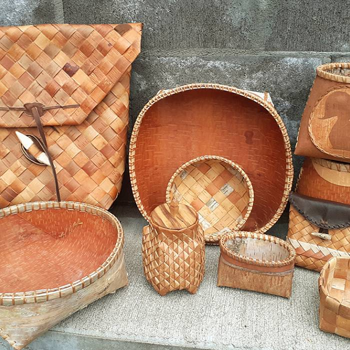 Image for Birch bark, whitefish, and baskets.