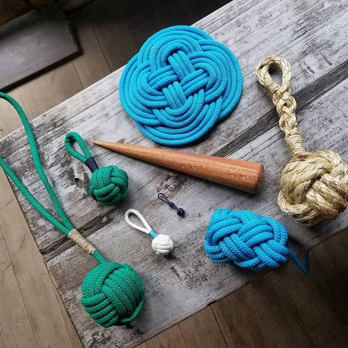 Teaser image for Knots: Intro to Fancywork: Wooden Boat Show Mini Course