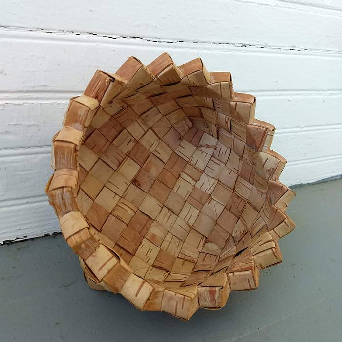 Teaser image for Birch Bark Sawtooth Table Basket