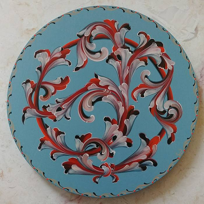 Teaser image for Introduction to Gudbrandsdal Style Rosemaling: Online Course