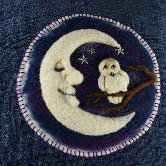 Teaser image for Painting with Wool: Owl Moon Online Course
