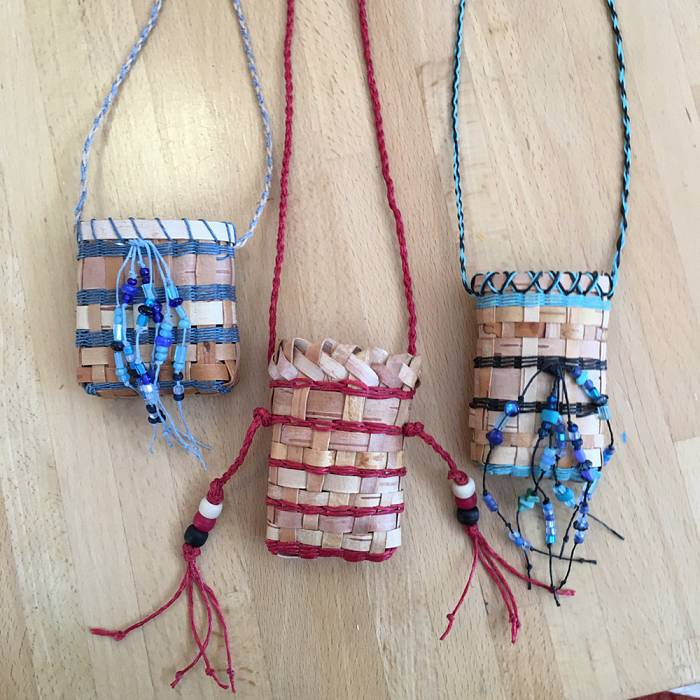 Teaser image for Birch Bark Basket  Necklace