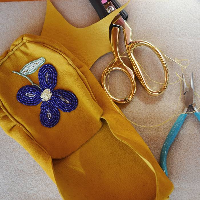 Teaser image for Aniishiinaabe-Style Bead Embroidery & Moccasin Sewing