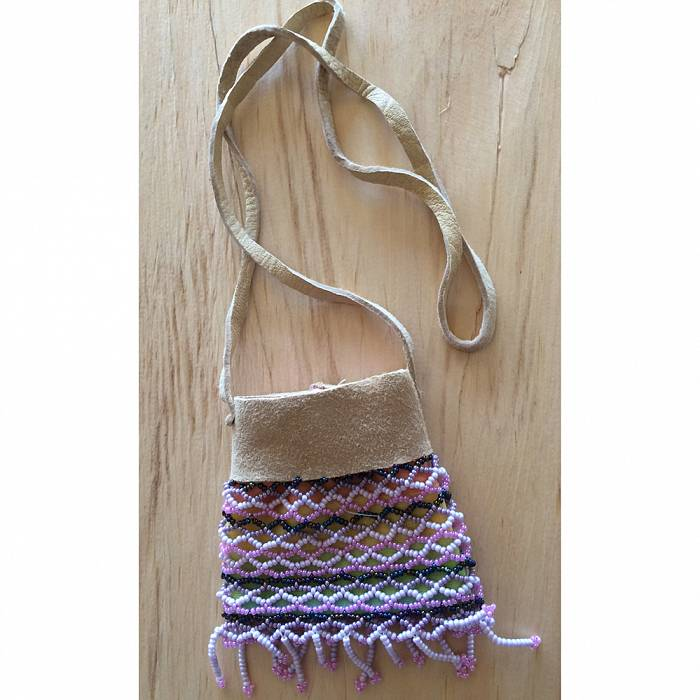 Teaser image for Bead Weaving: Deerskin Bag