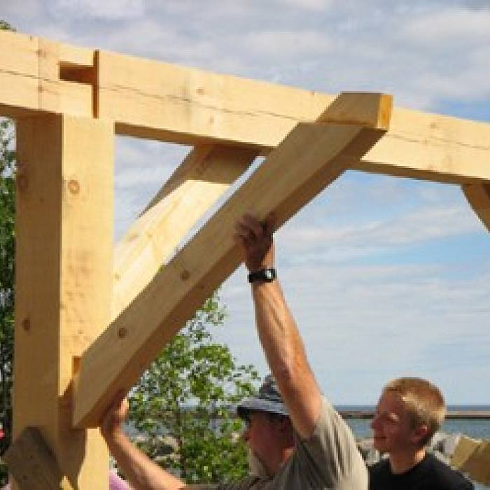 Teaser image for Blacksmith Shed Timber Frame (Service Learning)
