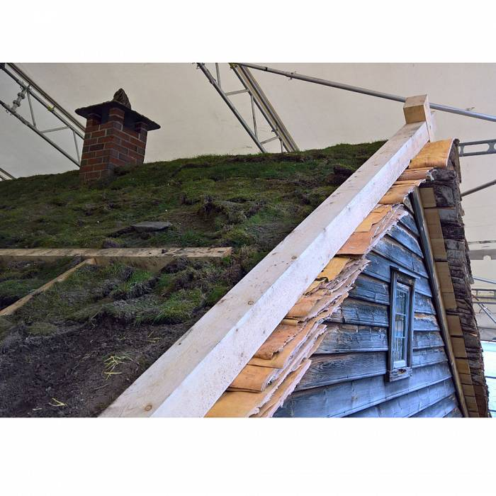 Teaser image for Building a Traditional Norwegian Storage Building: Birch Bark and Sod Roof