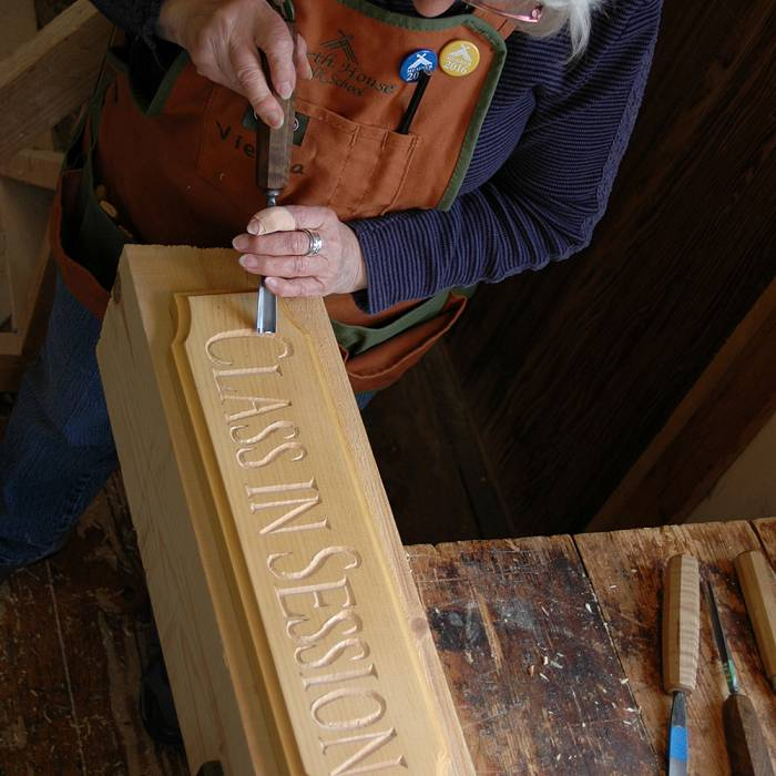 Teaser image for Carve Signs for Campus: Incise Letter Carving Service Learning Session