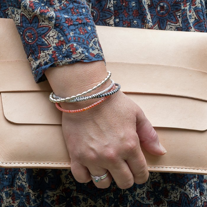 Teaser image for Hand-Sewn Leather Clutch