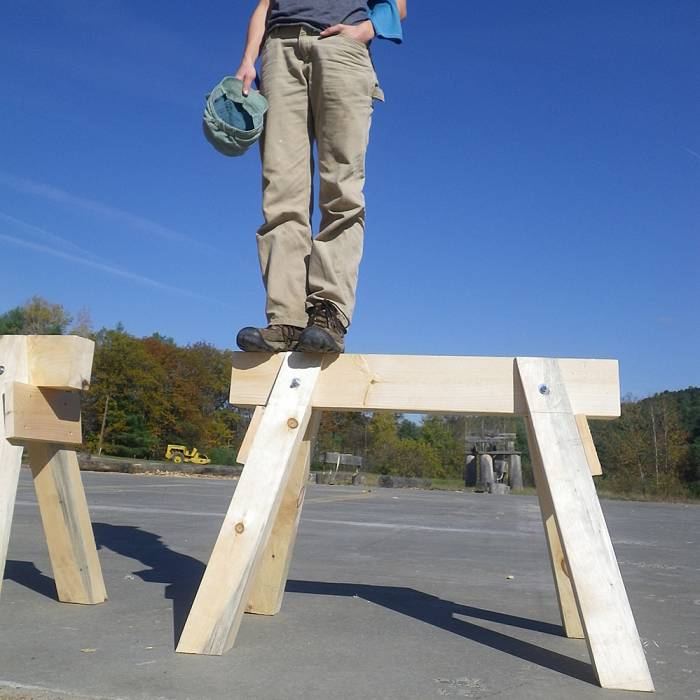 Teaser image for Der Zimmererbock, the German Sawhorse: Building with Hand Tools
